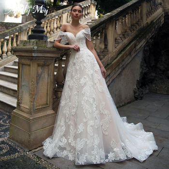 Adoly Luxury Sweethert Neck Beaded Lace Up Bride A-Line Wedding Dress 2020 Gorgeous Appliques Court Train Princess Wedding Gown