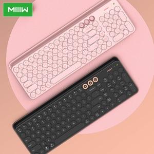 Image 2 - Miiiw Bluetooth Двухрежимная клавиатура 104 клавиши 2,4 ГГц Мультисистема совместимая с Windows PC Mac Беспроводная портативная клавиатура
