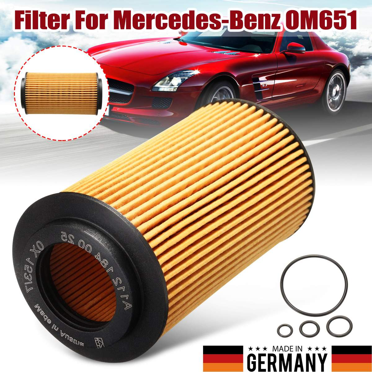 1PCS #A6511800109 Engine Car Oil Filter For W204 C-Class W212 E-Class For Mercedes-Benz <font><b>OM651</b></font> Fuel Filters image