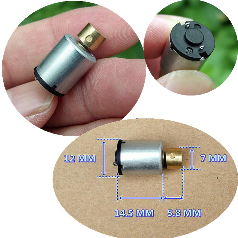 1pc Miniature DC1.5-3V Cylindrical Vibration Motor With Brass Eccentric Wheel