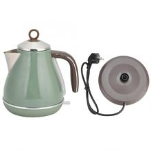 цена на 1.7L Electric Kettle 1800W Stainless Steel Tea Water Boiling Pot Retro Style Hot Water Heating Kettle Boiler Pot