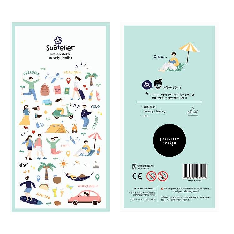 National Movement Sport Decorative Stationery Stickers Scrapbooking DIY Diary Album Stick Label