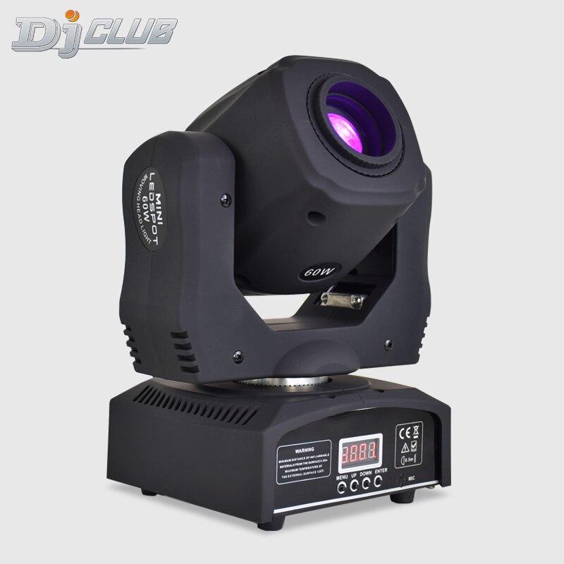 Lyre lâmpada led de alta qualidade, 60w, movimento, mini ponto, dj, luzes de alta qualidade, com 3 facetas, prisma 7 gobos dmx-512 para iluminação da festa no palco