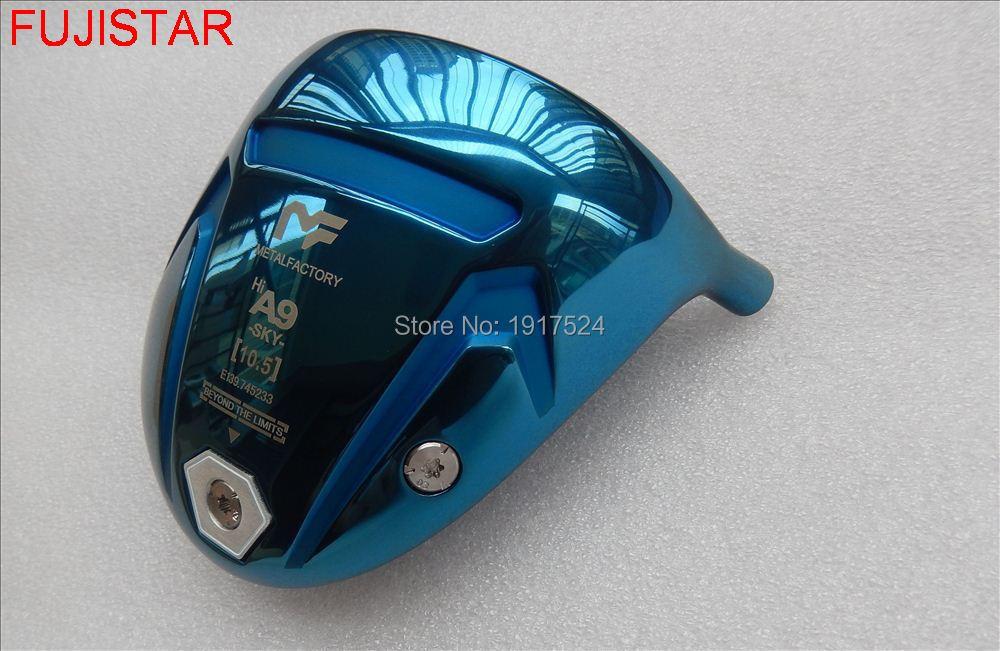 FUJISTAR GOLF METAL FACTORY A9 Titanium Golf Driver Head Blue Colour Hi Cor Driver