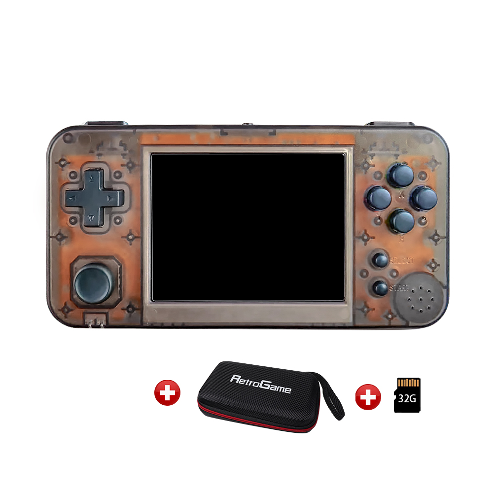 GKD 350H - GameKiddy RG350 H IPS Retro Games Video Game Console PS1 game 3.5inch Portable Games RG350H title=