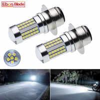 2 uds. Faros LED para motocicleta P36D 3030 66SMD con proyector blanco 6000K, Bombilla para Motor de motocicleta, luz alta y baja de 6V 12V 24V