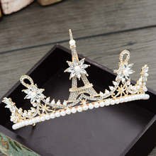Fashion Silver Crystal Hair Jewelry Pearl Crowns Luxury Queen Princess Bright Tiara Bridal Wedding Hair Accessories silver wedding crwon prince bridal crystal tiara crowns queen bride tiaras princess crowns headband wedding hair accessories