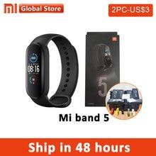 Xiaomi – Bracelet connecté Mi Band 5, avec écran tactile, 4 couleurs, moniteur d'activité physique et de fréquence cardiaque