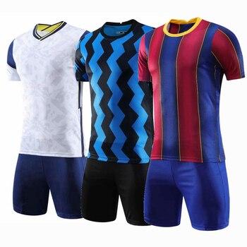 blank soccer jersey Club Soccer Jersey Set custom Blank football jerseys 2020-2021 club survetement Football Kit Men Futbol Training Uniforms set