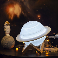 3D Print Saturn Lamp USB Rechargeable Space Moon