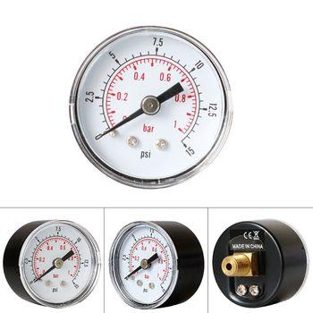 Manometr 40mm 1 8 BSPT tylny tył 15 30 60 160 200 300 PSI i Bar dla gazu powietrza Wate paliwa tanie i dobre opinie OOTDTY NONE CN (pochodzenie) 1 9 Cali i Pod ANALOG Pressure Gauge
