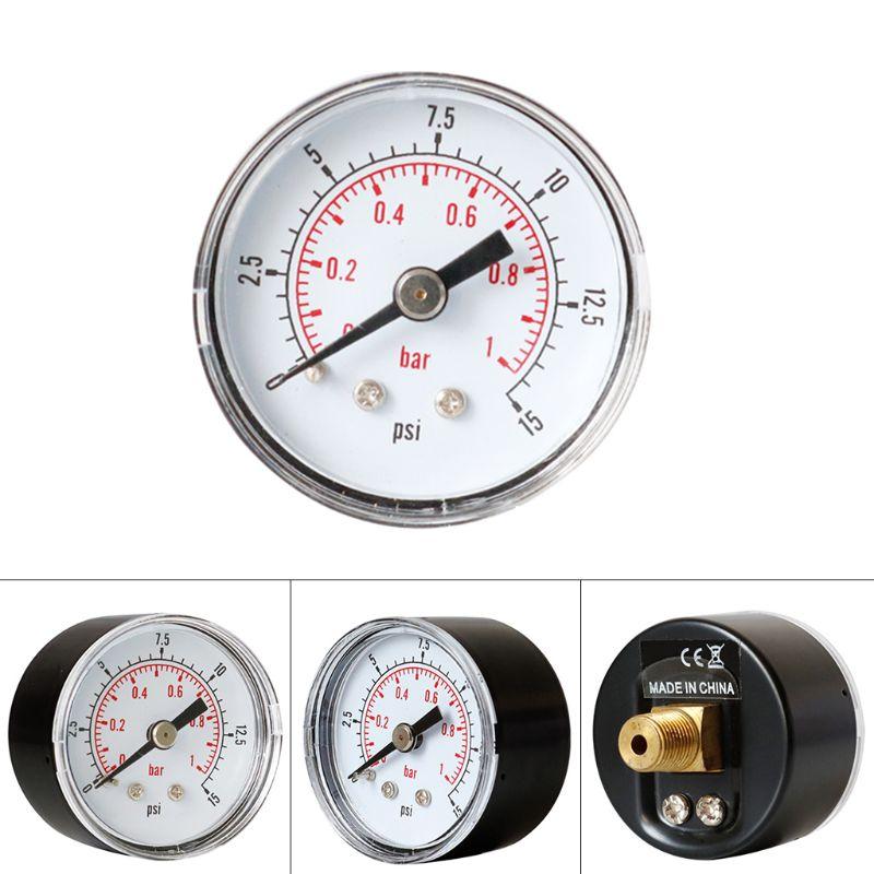 Medidor de presión 40mm 1/8 BSPT trasera 15 30 60 160 de 200 a 300 PSI y Bar de Gas de aire de Agua de combustible