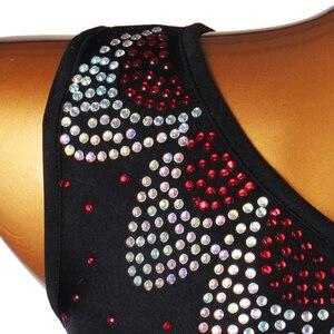 Image 5 - Robe de compétition de danse latine pour adultes/enfant, Costume de danse latine pour femmes/filles, vêtement de scène Sexy, jupe diamant, Samba/Salsa, DQL2943