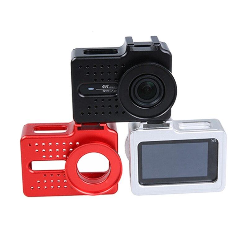 for Xiaomi Yi 4k Accessory Aluminium Alloy Metal Housing Frame Protective Case +UV filter for Xiao Yi 4k action camera