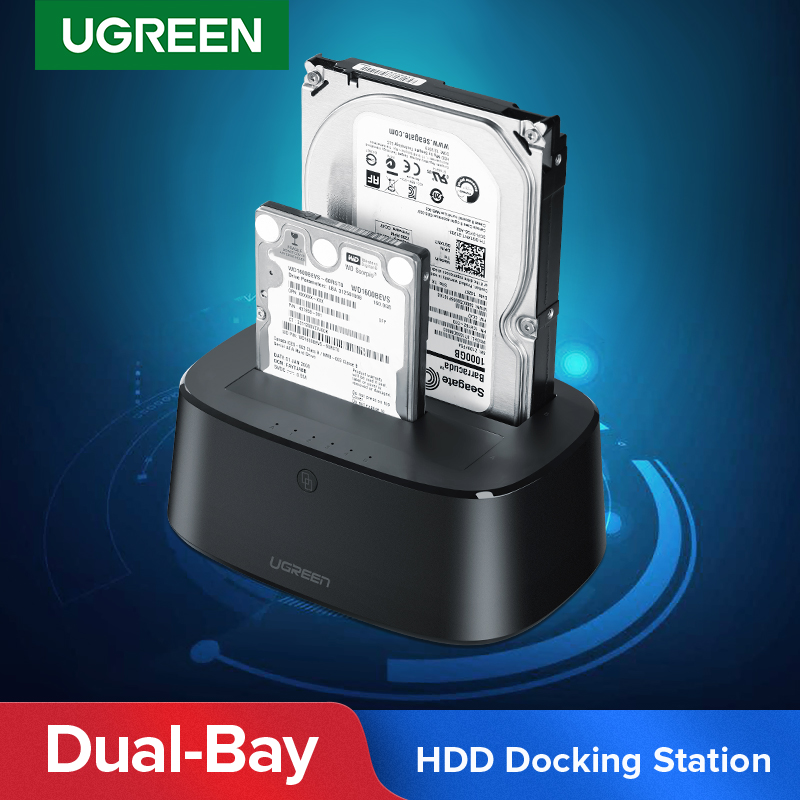 Ugreen HDD Docking Station SATA zu USB 3.0 Adapter für 2,5 3,5 SSD <font><b>Disk</b></font> Fall HD Box Dock Festplatte Gehäuse docking Station image