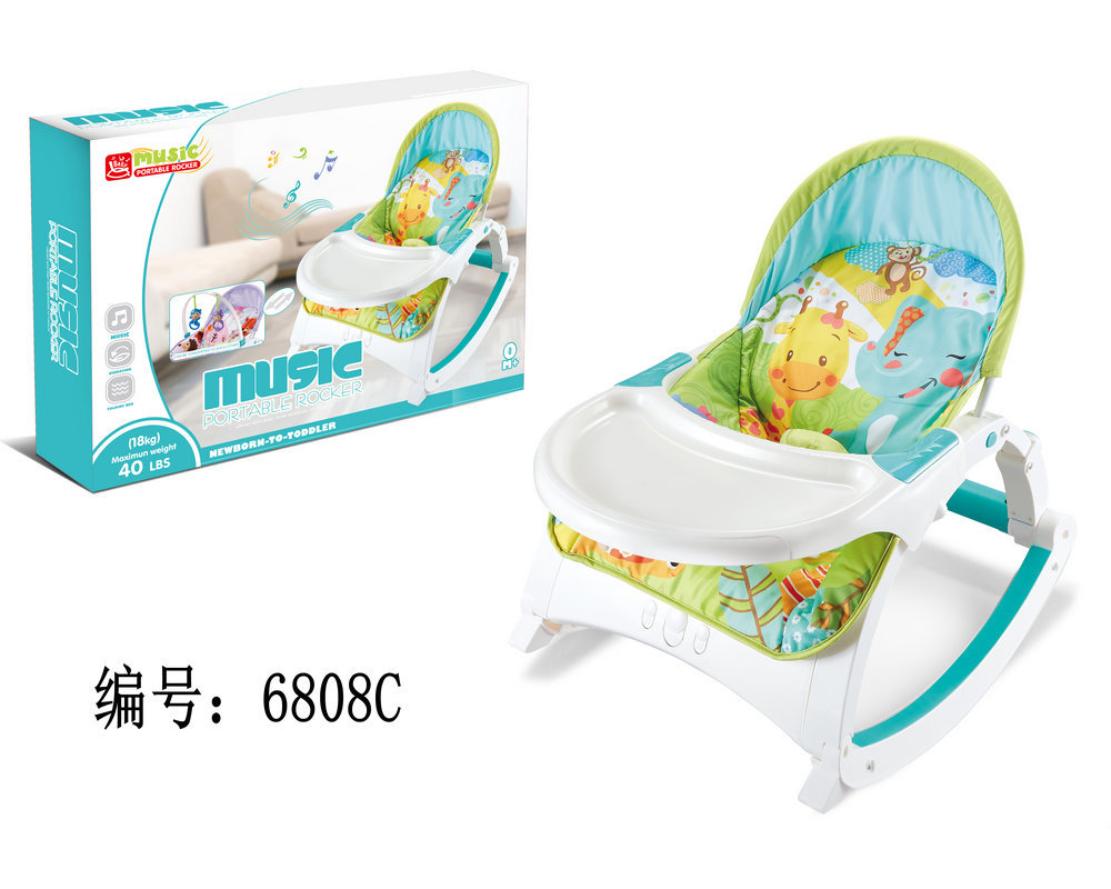 H62750a4d5f9d4d72bdc33c18c30859a4u Newborn Multifunctional  foldable Electric baby rocking chair with toy music soothing and comfortable shaking baby chair