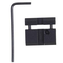 Portátil de pouco peso da liga de alumínio 11 a 20mm trilha/11mm a 22mm adaptador de couro do trilho do martini/tecelão