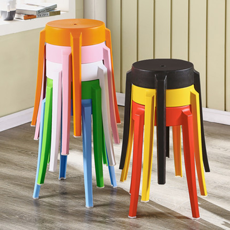 Nordic INS Dining Room Plastic Stool Chairs for Dining Stool Modern Restaurant Home Bedroom Living Room Study Plastic Stool