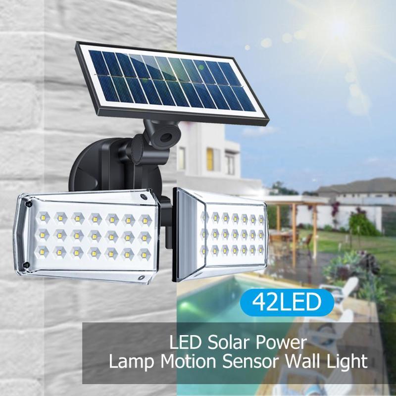 163/80/42/40 LED Solar Light Outdoor Solar Lamp PIR Motion Sensor Wall Light Waterproof Solar Powered Sunlight Garden 2019