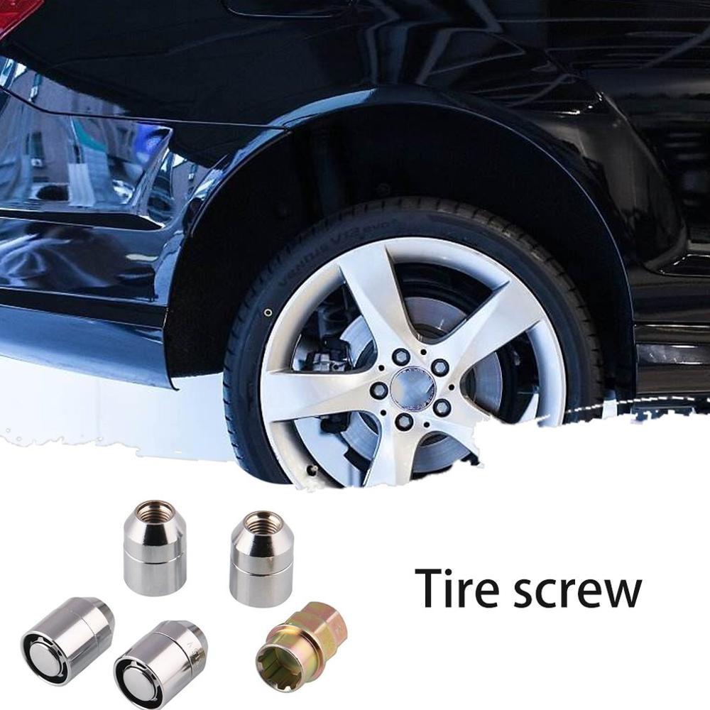 4+1 car wheel anti-theft nut car modification 25mm tire anti-theft screw car nut 4+1 anti-theft nut M12*1.5 tire nut