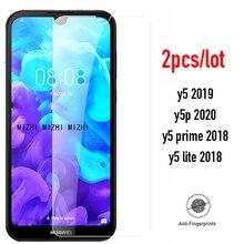 2 個ガラスhuaweiためy5 2019 スクリーンプロテクター保護glasのためにhuawei Y5P 2020 5p 5Y y 5 2019 2018 Y52019 安全フィルム