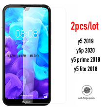 2pcs Glass For huawei y5 2019 Screen Protector Protective Glas on for huawei Y5P 2020 5P 5Y Y 5 2019 2018 Y52019 Safety film