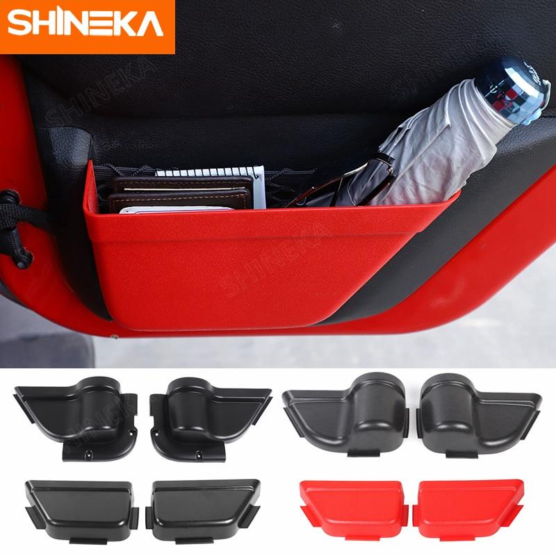 Органайзер SHINEKA для хранения и поддержания порядка на передней и задней дверях автомобиля, карманный органайзер для Jeep Wrangler JK 2011-2017 2/4, аксес...