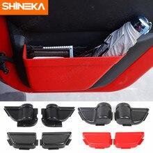 Shineka estiva tidying porta traseira dianteira do carro net bolso caixa de armazenamento organizador para jeep wrangler jk 2011-2017 2/4 acessórios da porta