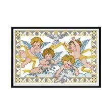 Ангел благословение Набор для вышивки крестом Аида 14ct 11ct Печать на холсте вышивка крестиком es рукоделие вышивка DIY Ручная работа