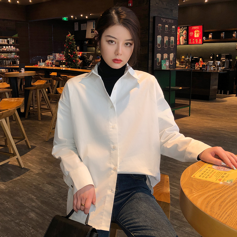 Women White Shirt Long Sleeve 2020 Spring Summer New Fashion Casual Loose Shirts Female Streetwear Blouse Tops Oversize