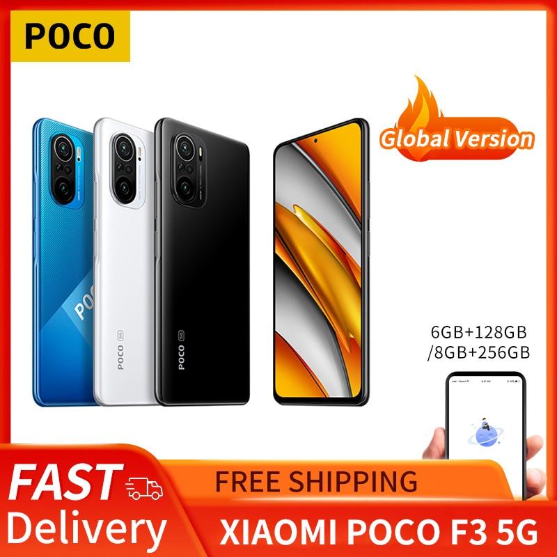 Global Version POCO F3 5G Xiaomi SmartPhone 6GB 128GB/8GB 256GB Snapdragon 870 Octa Core 6.67