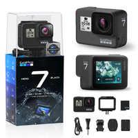 GoPro HERO7 negro impermeable Cámara de Acción con pantalla táctil deportes Cam Go Pro HERO 7 12MP fotos estabilización de transmisión en directo