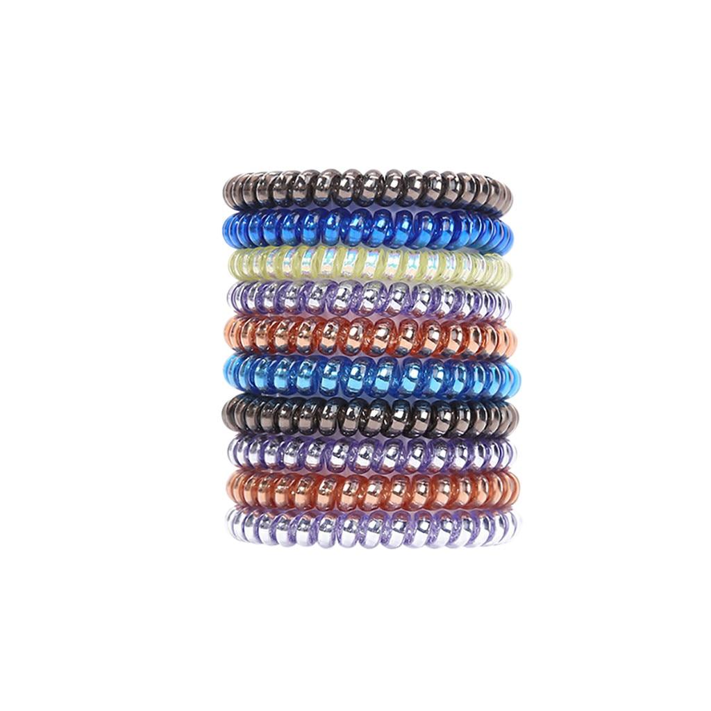 Fashion Accessories Women s Transparent Elastic Phone Line Rotating Hair Band