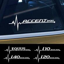 2 pçs janela lateral do carro adesivos para hyundai accent creta eon equus i10 i20 i40 ioniq ix25 ix55 kona acessórios de automóvel vinil decalque