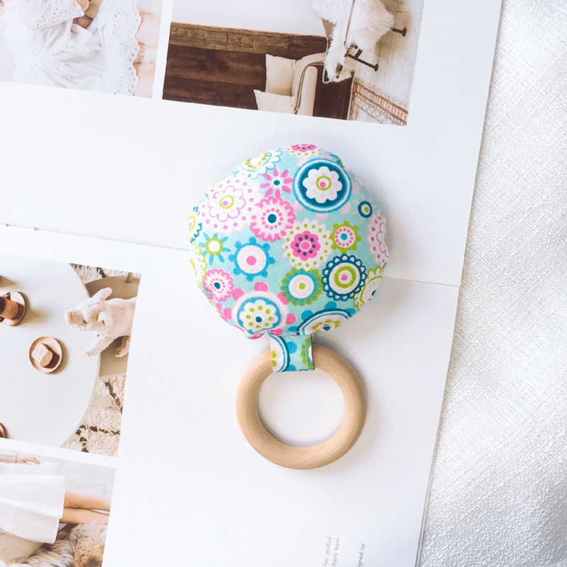 Портативный для новорожденных Детское Зубное кольцо жевательные Прорезыватель для зубов ручной безопасная, из дерева натуральное кольцо молочных зубах упражняющая игрушка в подарок