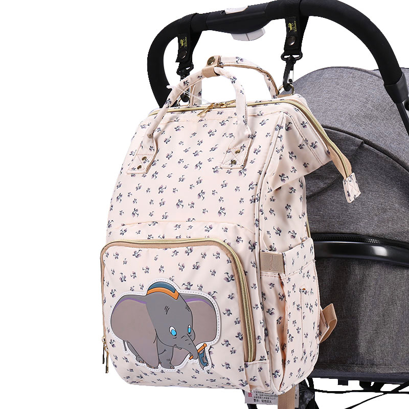Disney New Mummy Bag Mickey Pregnant Women Bag Large Capacity Diaper Bag Cart Bag Diaper Bag Backpack Baby Diaper Bag Wet Bag