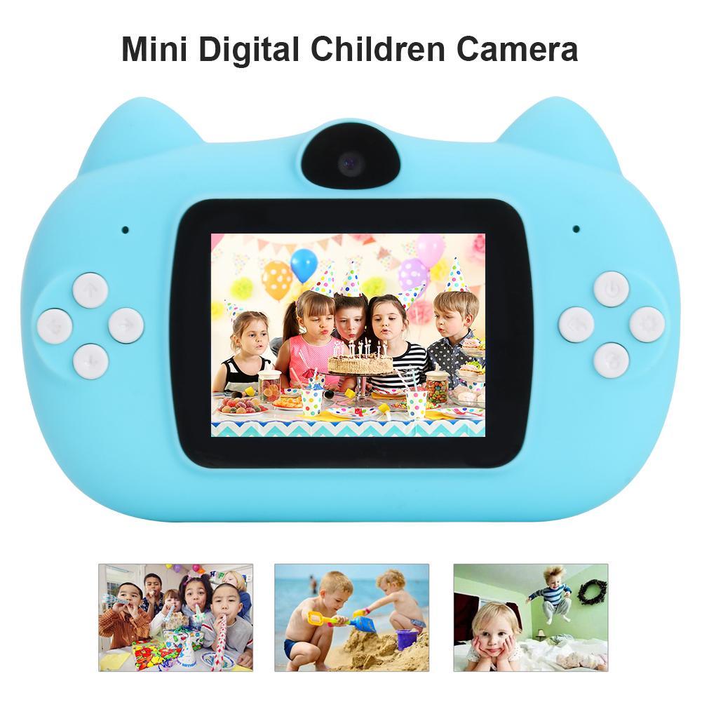 2.0 Inch HD 1080 Video Camera Kids Digital SLR Photo Electrodeless Zoom High Definition Mini Camera Children Toys