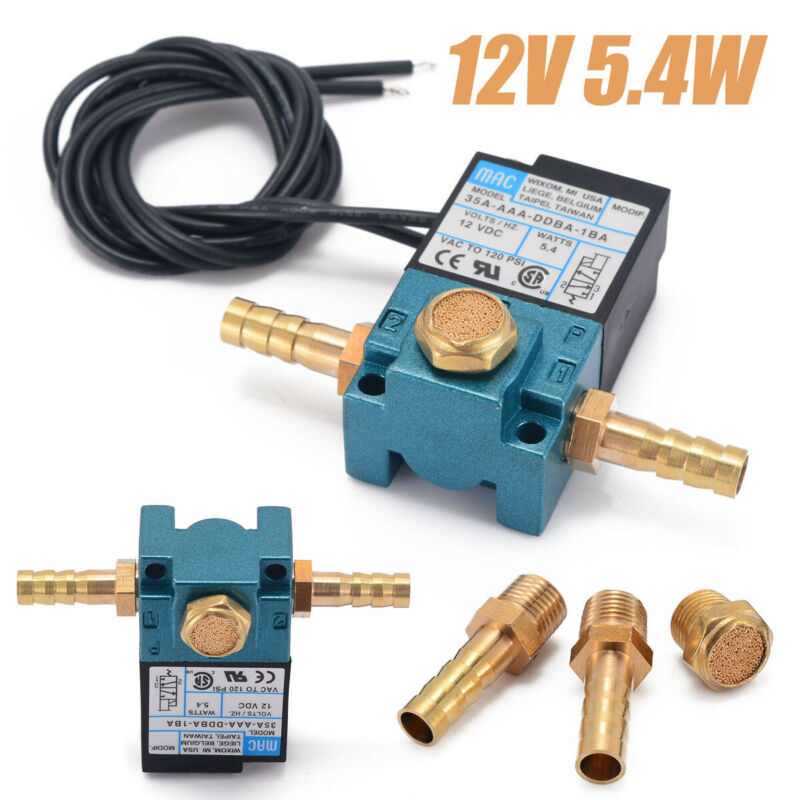 Clearance Sale Snap Up 3 Port Electronic Boost Control Solenoid Valve DC12V 5.4W 35A-AAA-DDBA-1BA With Brass Fittings