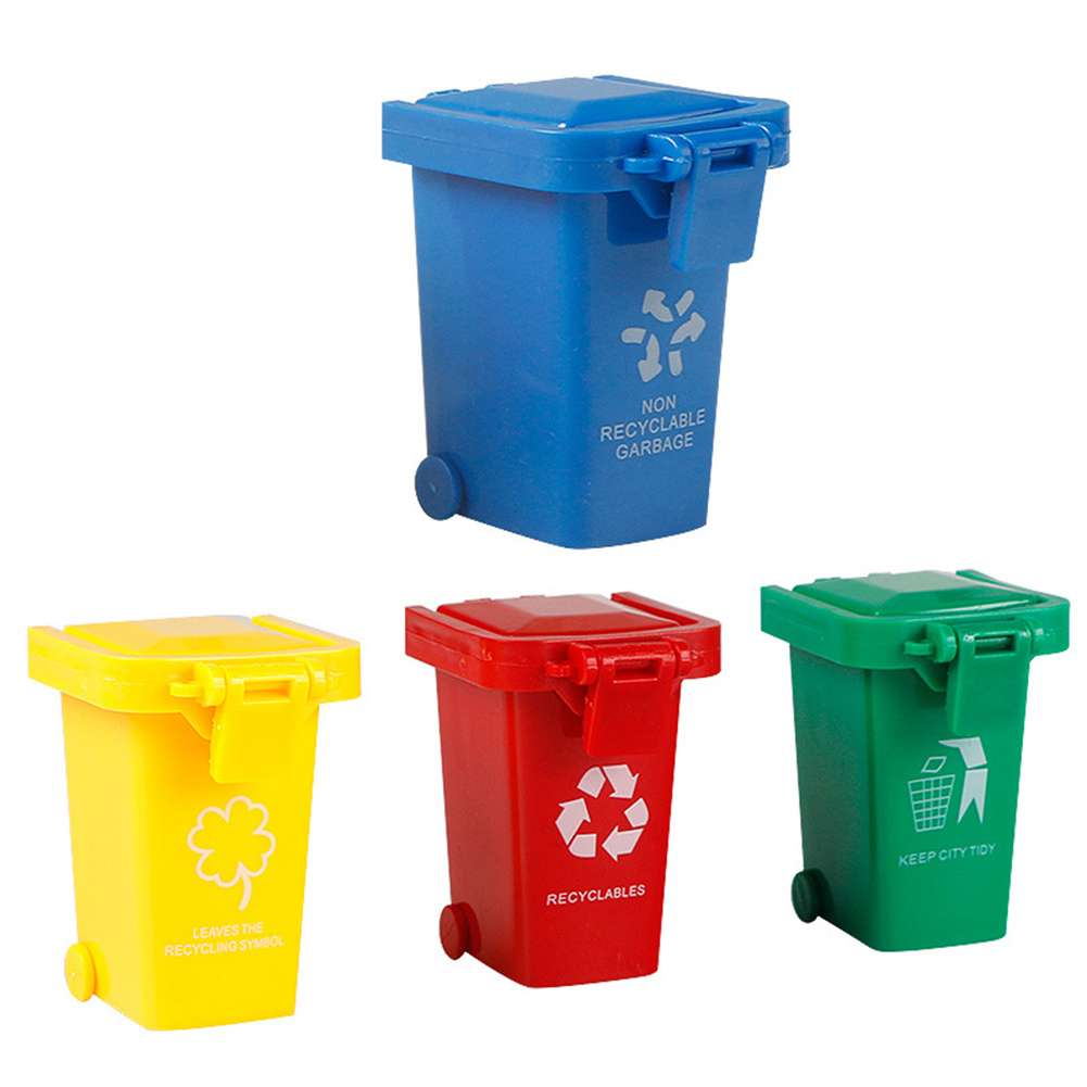 High Quality 4 Pcs Trash Can Toy Garbage Classification Learning Educational For Children Kids