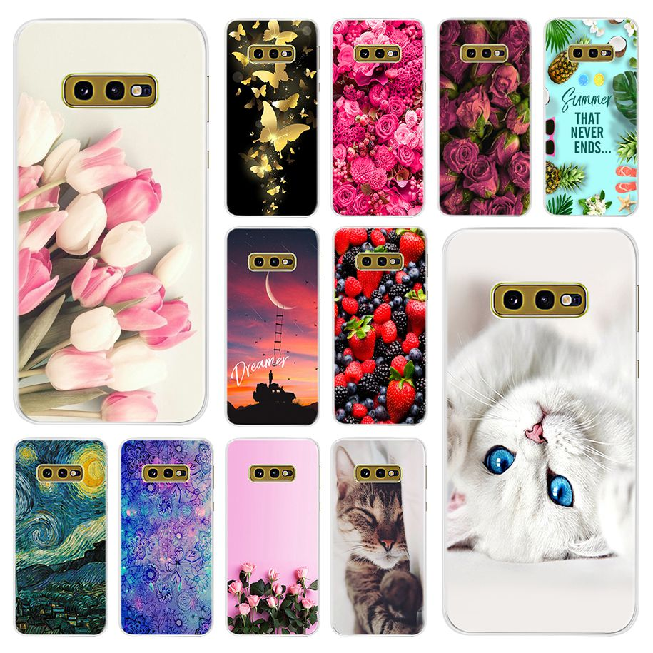 S10e Case For Samsung Galaxy S10E Phone Case Cartoon Patterns Soft TPU Silicone Back Cover For Samsung S10E SM-G970F S 10e Coque