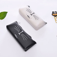 Cute Cat Jelly Coin Purse Student Pencil Case Creative Key Case Boys Small Pouch Storage Bag Simple Little Wallet Girls gravity falls reel scroll style pencil stationary storage wallet bag boys girls gift