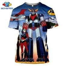 Sonspee 3d impressão masculina goldorak t-shirts casual streetwear harajuku hip hop manga curta do vintage anime camisetas topos camisa