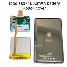 Novo ssd 80gb 120gb 240gb 480gb para ipod classic 7gen 7th 160gb ipod vídeo 5th substituir mk3008gah mk8010gah mk1634gal ipod hdd