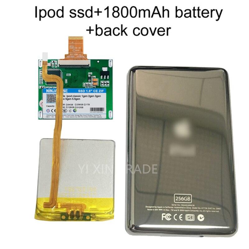 tb para Ipod Novo 256g 512g 1 Clássico 7gen 7th 160 gb Ipod Vídeo 5th Substituir Mk3008gah Mk8010gah Mk1634gal Hdd Ssd 32g 64g 128g