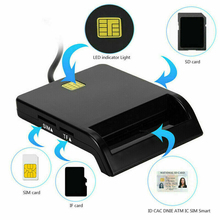USB SIM Smart Card Reader Memory for ID Bank EMV Electronic DNIE Dni Citizen Sim Cloner Connector Adapter PC Computer