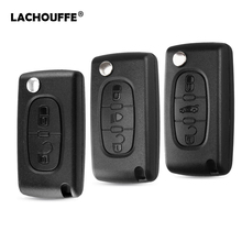 Remote Flip Car Key Shell for Peugeot 107 206 307 407 408 607 807 Citroen C2 C3 C4 C5 C6 C8 Xsara Picasso CE0523/0536 2pcs led dynamic side marker light for peugeot 1007 107 206 207 307 407 607 citroen c1 c2 c3 c5 c6 xsara picasso amber car lamp
