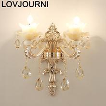 Arandela Para Parede Aplik Lamba Crystal Bedroom Applique Murale Luminaire Aplique Luz Lampara De Pared Interior Wall Light