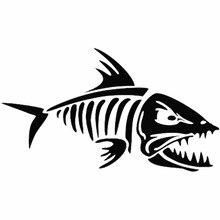 CS-1745 # balık somon kemik yansıtıcı komik araba sticker su geçirmez vinil çıkartması için oto araba çıkartmaları şekillendirici çıkarılabilir araba dekor