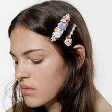 2019 Trendy ZA Simulated Pearls Flower Hairclips Set Women Girls Fashion Hairpins Hair Clips Barrette Hair Jewelry Accessories new arrival girls women hair accessories big pearls hairpins party hair clips barrette wedding bridal hairpins romantic jewelry
