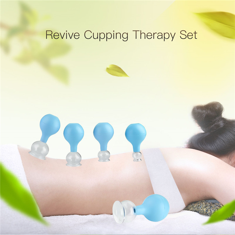 5pcs Silicone Facial Massage Cupping Set Vacuum Body Massager Cups Cellulite Lymphatic Therapy Face Suction Cups Kit Body Helper